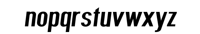 Give A Hoot Bold Extended Oblique Font LOWERCASE