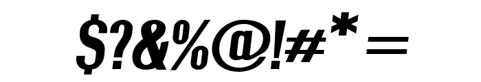 Give A Hoot ExtraBold Extended Oblique Font OTHER CHARS