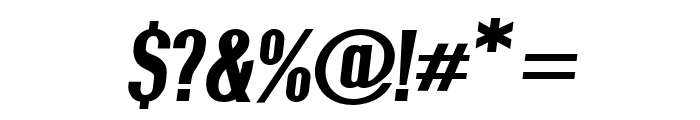 Give A Hoot ExtraBold Oblique Font OTHER CHARS