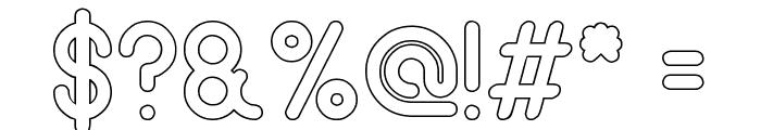 gitchgitch-Hollow Font OTHER CHARS