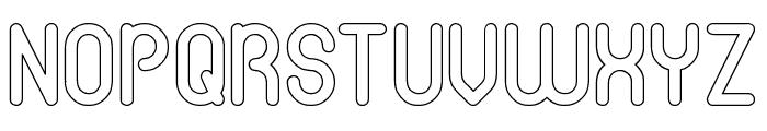 gitchgitch-Hollow Font UPPERCASE