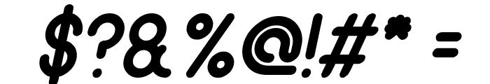 gitchgitch Italic Font OTHER CHARS