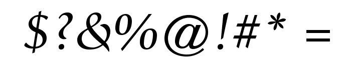 GiovanniStd-BookItalic Font OTHER CHARS