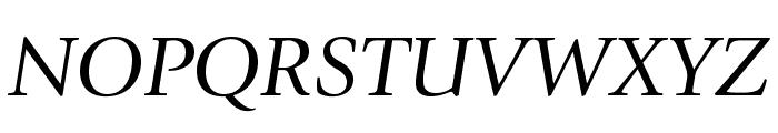 GiovanniStd-BookItalic Font UPPERCASE