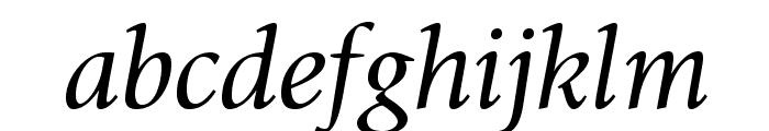 GiovanniStd-BookItalic Font LOWERCASE