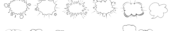 Gibon Balloons Font LOWERCASE
