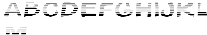 Gibon Bold Fill Gradient Font LOWERCASE