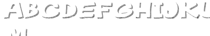 Gibon Bold Shadow Striped 1 Font UPPERCASE