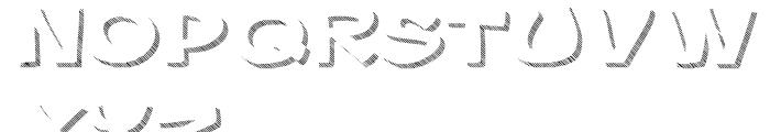 Gibon Bold Shadow Striped 1 Font LOWERCASE