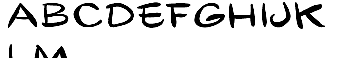 Gibon Lettering Font LOWERCASE
