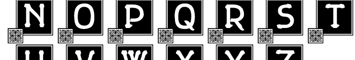 Gildersleeve Initials Font UPPERCASE