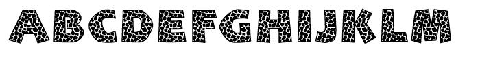 Giraffe Skin Zim Regular Font UPPERCASE