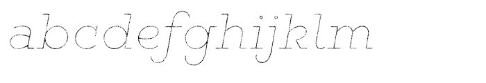 Gist Rough Light Line Font LOWERCASE