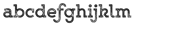 Gist Rough Upright Bold Font LOWERCASE