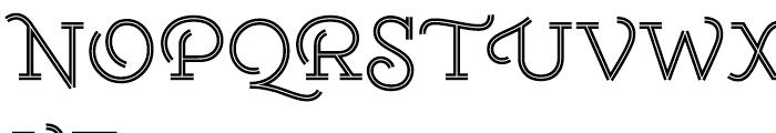 Gist Upright Regular Font UPPERCASE