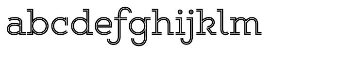 Gist Upright Regular Font LOWERCASE