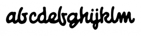 Giant Sized Spectacular Script BB Regular Font LOWERCASE