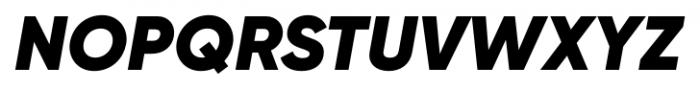 Gilroy Black Italic Font UPPERCASE