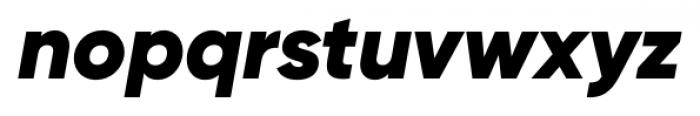 Gilroy Black Italic Font LOWERCASE