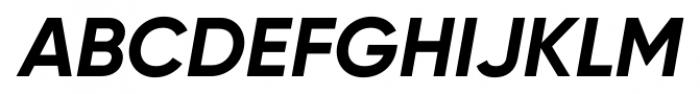 Gilroy Bold Italic Font UPPERCASE