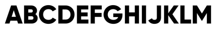 Gilroy Extra Bold Font UPPERCASE