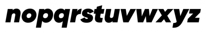 Gilroy Heavy Italic Font LOWERCASE