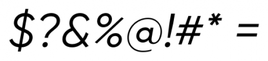 Gilroy Italic Font OTHER CHARS