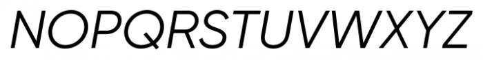 Gilroy Italic Font UPPERCASE