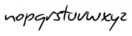 Giorgio Handwriting Regular Font LOWERCASE