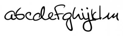 Giovanna Handwriting Regular Font LOWERCASE
