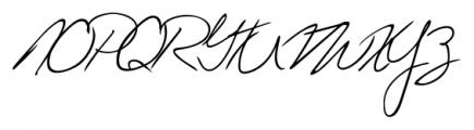 Giuliano Handwriting Regular Font UPPERCASE