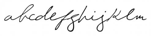 Giuliano Handwriting Regular Font LOWERCASE