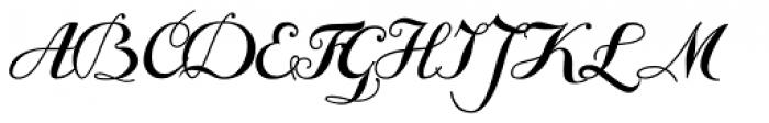 Giambattista Three Script Font UPPERCASE