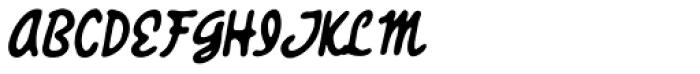 Giant Sized Spectacular Script BB Italic Font UPPERCASE