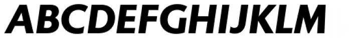 Gibbs Black Italic Font UPPERCASE