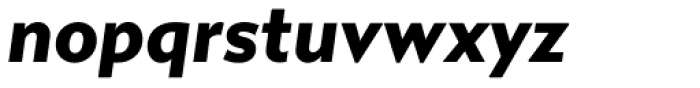 Gibbs Black Italic Font LOWERCASE