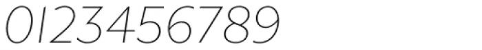 Gibbs Thin Italic Font OTHER CHARS
