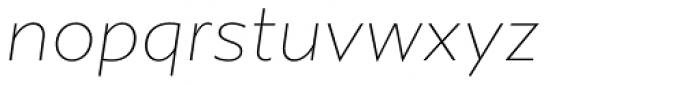 Gibbs Thin Italic Font LOWERCASE