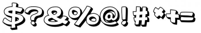 Gibon Bold 3D Font OTHER CHARS