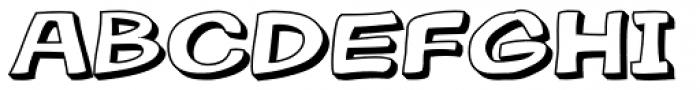 Gibon Bold 3D Font UPPERCASE