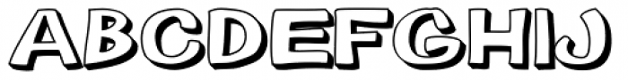 Gibon Bold 3D Font LOWERCASE