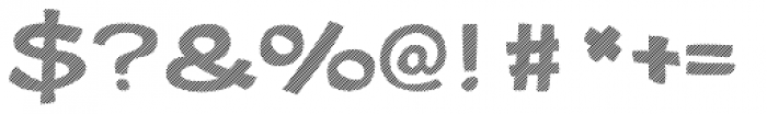 Gibon Bold Fill Striped 1 Font OTHER CHARS
