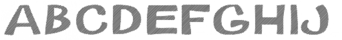 Gibon Bold Fill Striped 1 Font LOWERCASE
