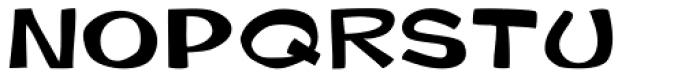 Gibon Bold Fill Font LOWERCASE