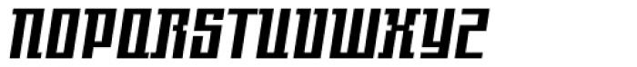 Gigant EFCond Black Obl Font UPPERCASE