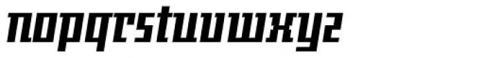 Gigant EFCond Black Obl Font LOWERCASE