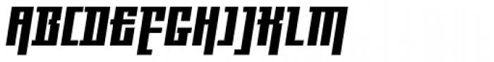 Gigant EFCond Heavy Obl Alt Font UPPERCASE