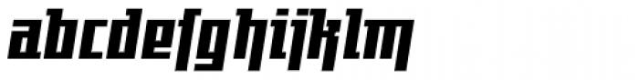 Gigant EFCond Heavy Obl Alt Font LOWERCASE