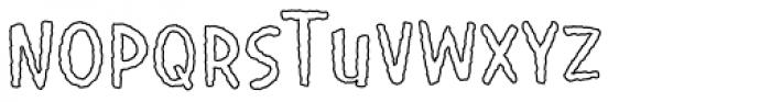 Giggles Wiggles BTN Outline Font UPPERCASE