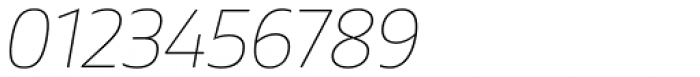Gilam Thin Italic Font OTHER CHARS